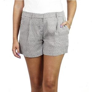 Theory 100% silk black white print shorts size 00